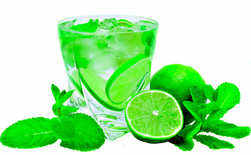 Mojito natural sin alcohol y dispensador